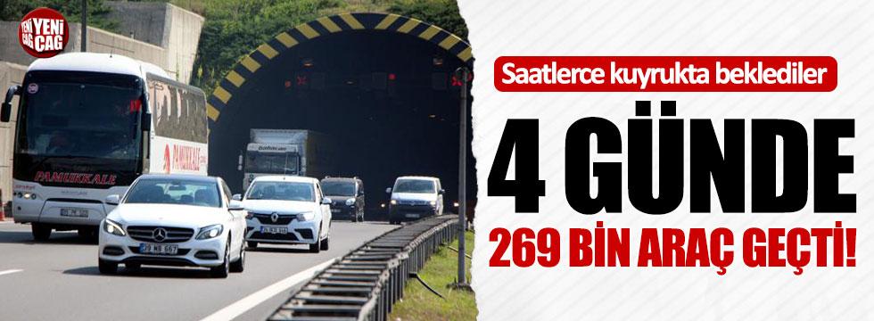 Bolu Dağı'ndan 4 günde 269 bin araç geçti