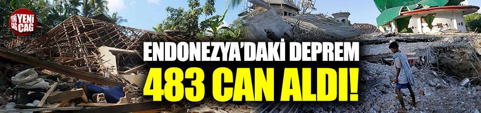 Endonezya'daki depremler 483 can aldı