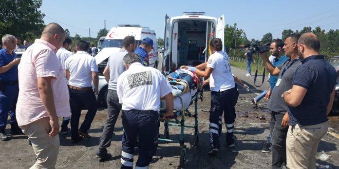 Samsun'da hatalı sollama kazası