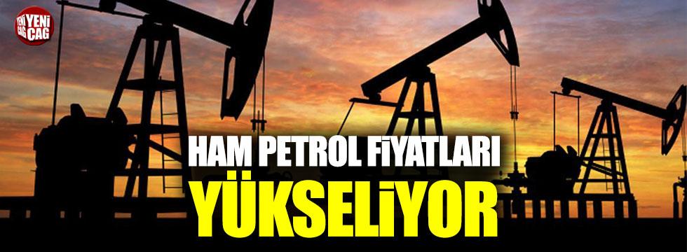 Ham petrolün fiyatı artıyor