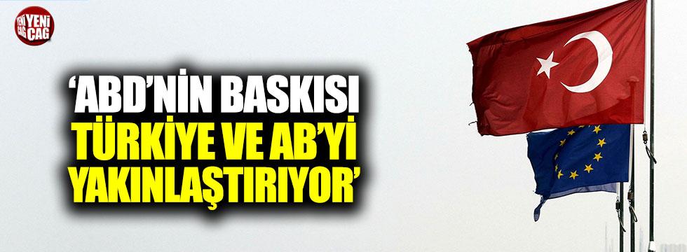 'ABD'nin baskısı Türkiye ve AB'yi yakınlaştırıyor'