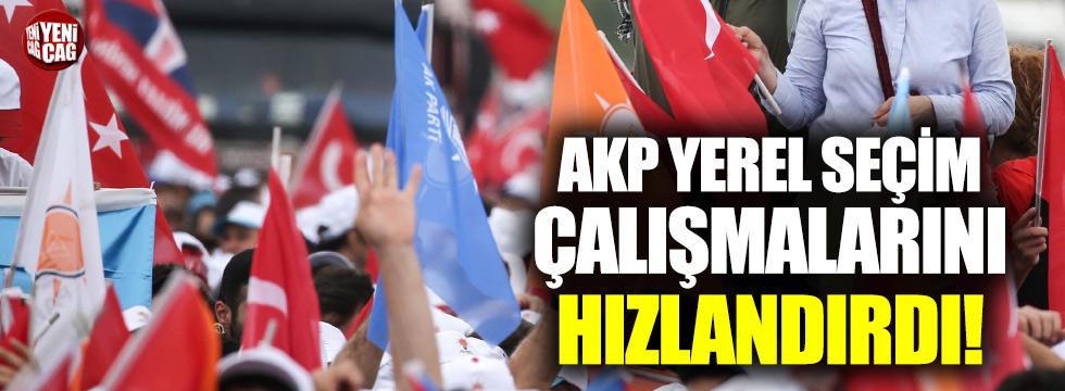 AKP yerel seçim çalışmalarını hızlandırdı