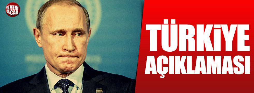 Putin'den Türkiye ile ilgili önemli açıklama