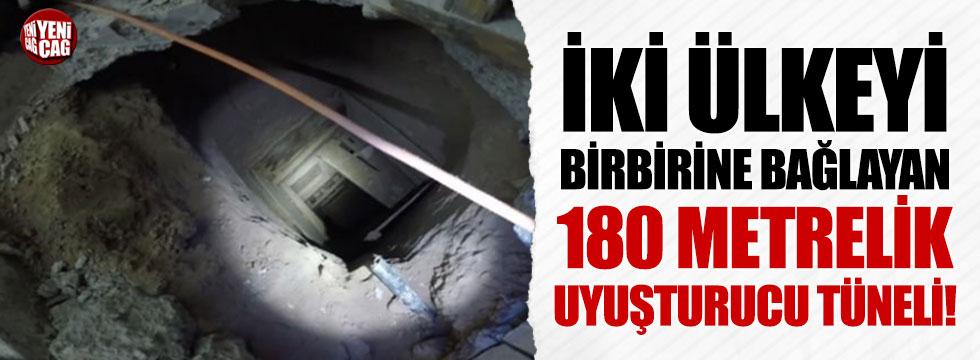 İki ülkeyi birbirine bağlayan 180 metrelik uyuşturucu tüneli!