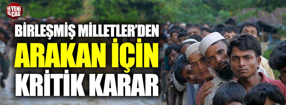 Birleşmiş Milletler'den Arakan için 'soykırım' kararı