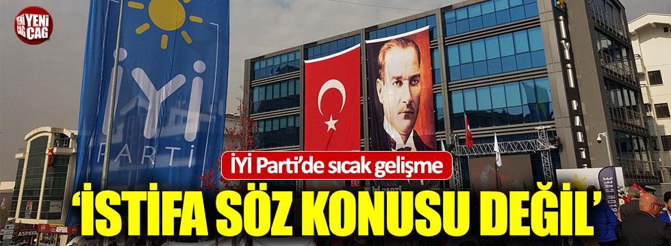 İYİ Partili Şeker istifa etmedi