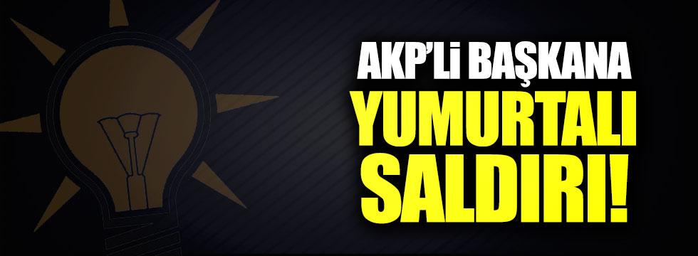 AKP'li başkana yumurtalı saldırı