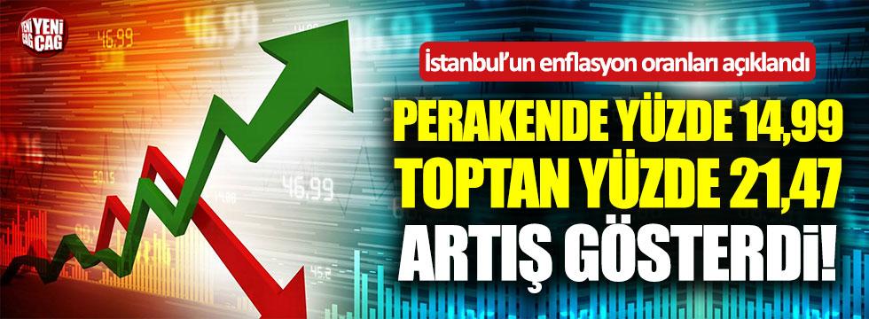 İstanbul'da enflasyon oranı arttı