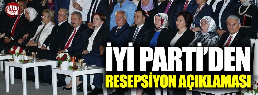 İYİ Parti'den resepsiyon açıklaması