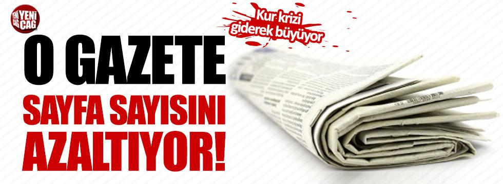 O gazete sayfa sayısını azaltıyor!