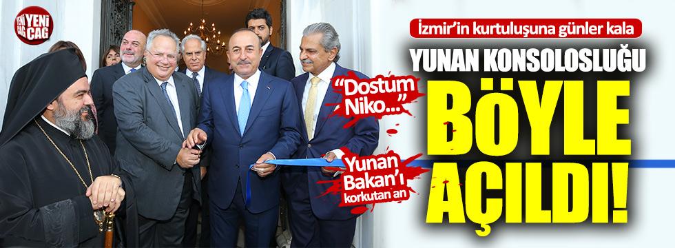İzmir'de Yunan konsolosluğu böyle açıldı