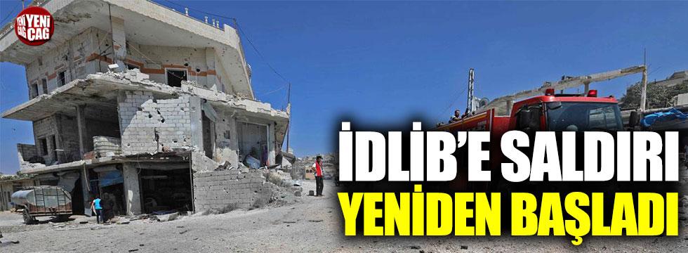 İdlib'e topçu ateşi