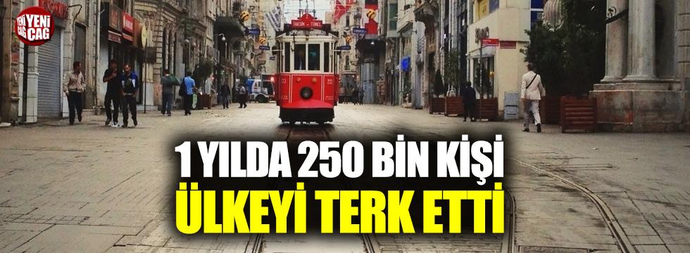 250 bin kişi Türkiye'yi terk etti