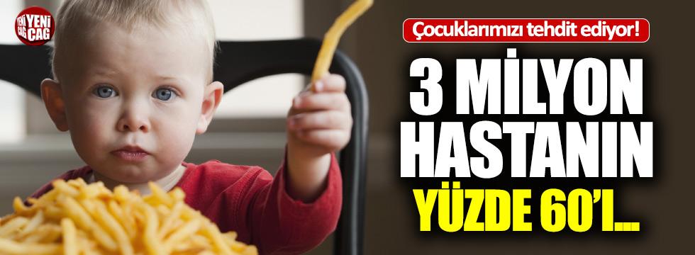 2 milyon çocuk obez