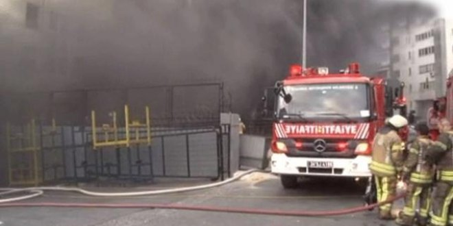 İstanbul'da bir fabrika daha kül oldu