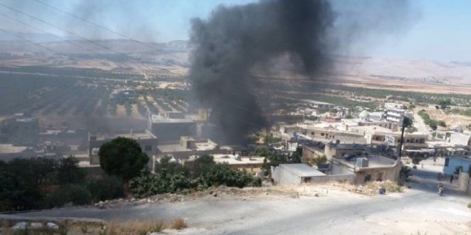 Esad rejiminden İdlib'e topçu ateşi