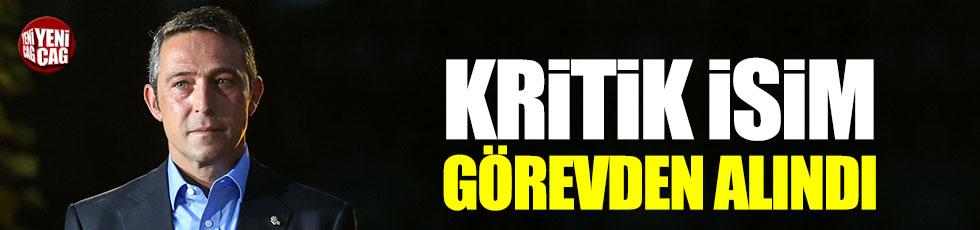 Fenerbahçe'de kritik isim görevden alındı