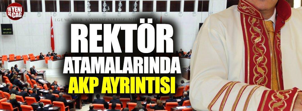 AKP'li eski vekiller rektörlük koltuğunda