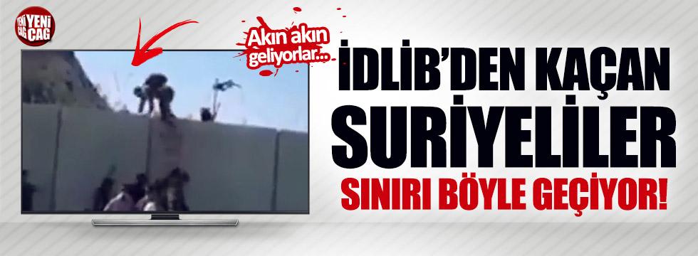 İdlib'den kaçan Suriyeliler akın akın sınırı geçiyor