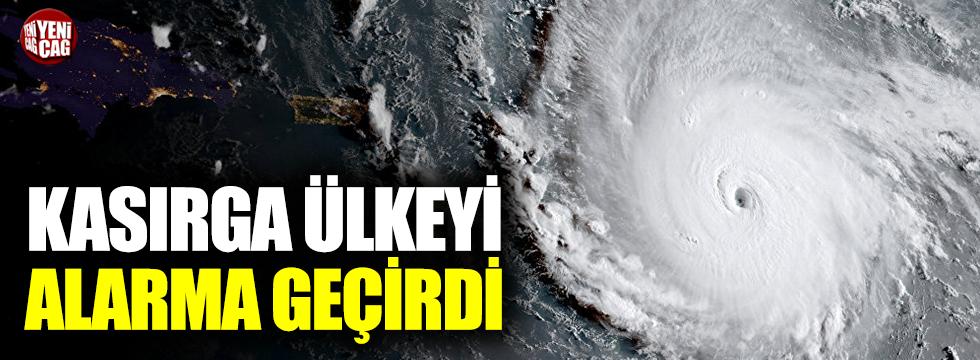 Kasırga alarmı ülkeyi harekete geçirdi
