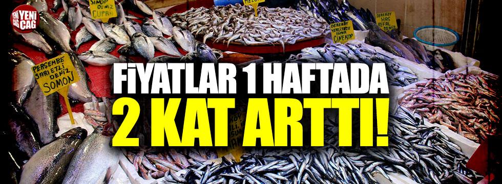 Balık fiyatları bir haftada 2 kat arttı