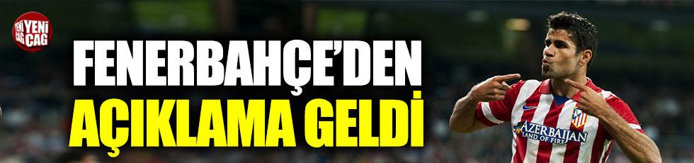 Fenerbahçe'den Diego Costa açıklaması
