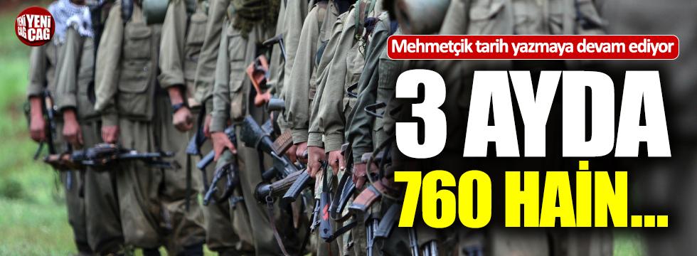 3 ayda 760 terörist...