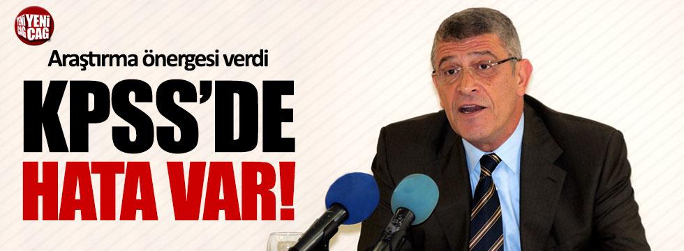 Müsavat Dervişoğlu'ndan KPSS'yle ilgili araştırma önergesi