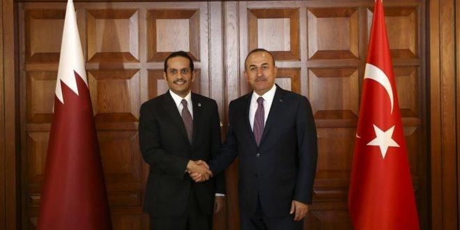 Çavuşoğlu, Katarlı mevkidaşıyla görüştü