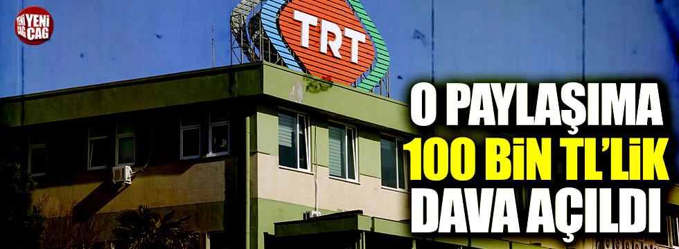 TRT'den CHP'li Tanal'a 100 bin TL'lik dava