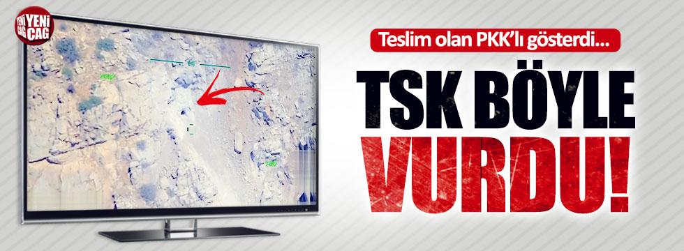 Terörist gösterdi, TSK vurdu