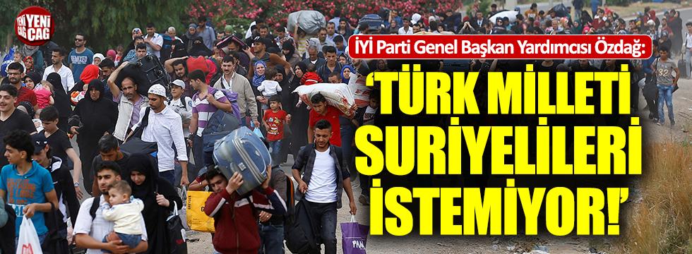 """Özdağ: """"AKP'li seçmen de Suriyelileri istemiyor"""""""