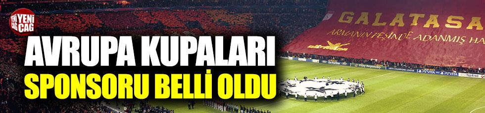 Galatasaray'ın Avrupa kupaları sponsoru belli oldu