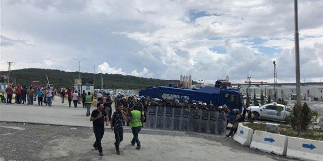 3. Havalimanı'nda eylem yapan işçilere gözaltı