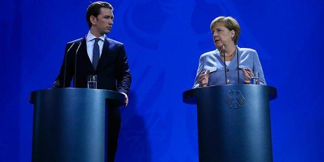 Merkel ve Kurz AB'nin dış sınırlarını korumayı istiyor
