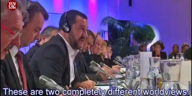 İki bakan AB toplantısında birbirine girdi!