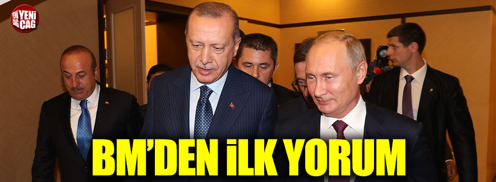 BM'den Erdoğan-Putin görüşmesine ilk yorum
