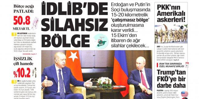Günün Ulusal Gazete Manşetleri - 18 09 2018