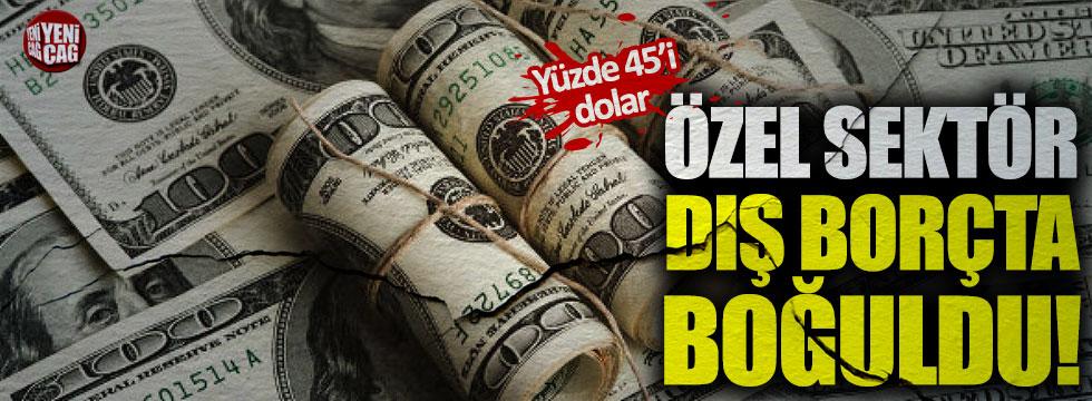 Özel sektör dış borçta boğuldu!