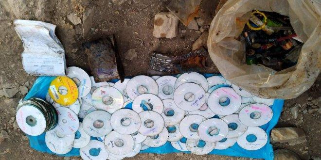Teröristlere ait 200 CD ele geçirildi