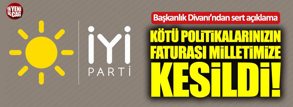 İYİ Parti Başkanlık Divanı'ndan çok sert açıklama