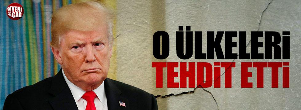 Trump yine tehdit etti