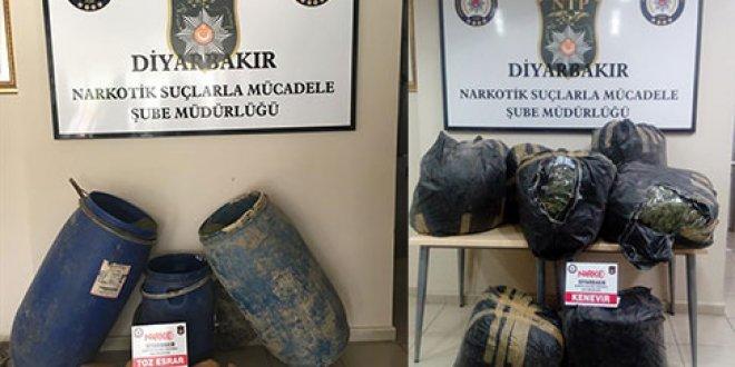 Diyarbakır'da 1 ton 98 kilogram esrar ele geçirildi