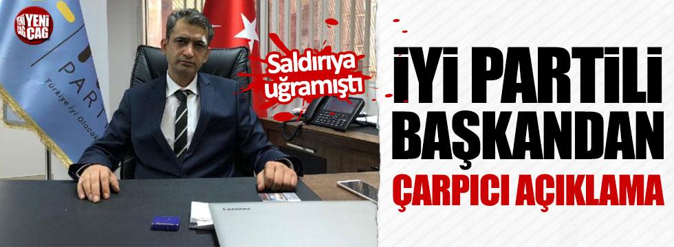Saldırıya uğrayan İYİ Parti Malatya İl Başkanı Yeniçağ'a konuştu