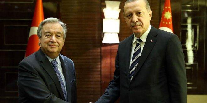 Erdoğan,  Guterres ile görüştü