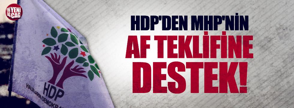 HDP'den MHP'nin af teklifine destek