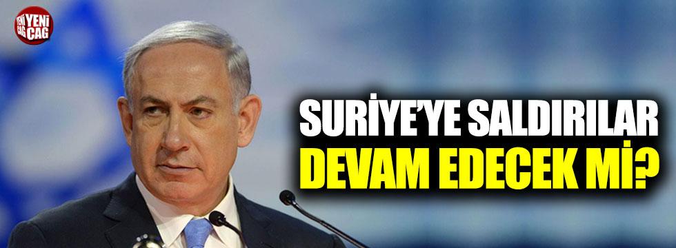 İsrail Suriye saldırılarına devam edecek mi?