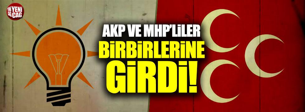 AKP ve MHP'liler arasında kavga çıktı