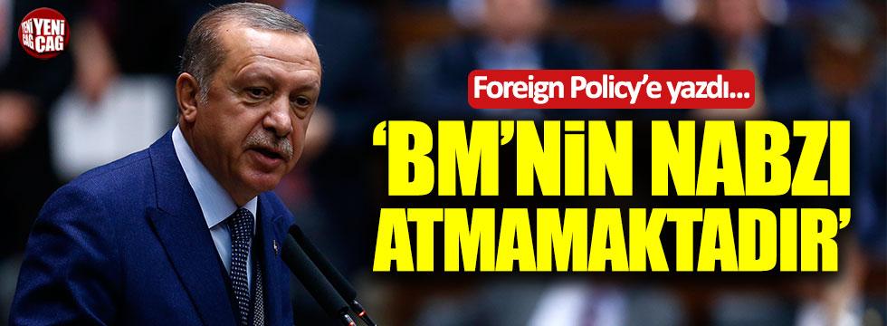 Erdoğan: BM'nin nabzı atmamaktadır