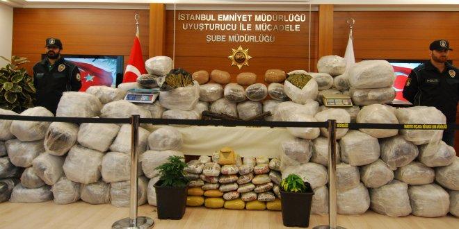 İstanbul'da 9 ayda 7 ton uyuşturucu ele geçirildi